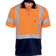 'DNC' HiVis D/N Cool Breathe Short Sleeve Polo Shirt with 'X' Back R-Generic Tape
