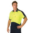 'DNC' HiVis Micromesh Short Sleeve Panel Polo Shirt