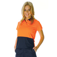 'DNC' HiVis Ladies Short Sleeve Two Tone Fluoro Polo