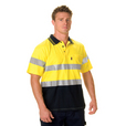'DNC' HiVis Cool Breeze Short Sleeve Cotton Jersey Polo with 3M Reflective Tape