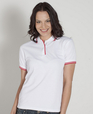 ** CLEARANCE ITEM ** 'JB' Ladies Contrast Polo
