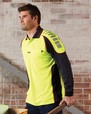 'Visitec Workwear' Chief Long Sleeve Microfibre Polo