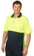 'Winning Spirit' Mens HiVis Cooldry® Short Sleeve Polo