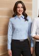 'Biz Collection' Ladies Luxe Long Sleeve Premium Cotton Shirt