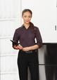 'Biz Collection' Ladies ¾ Sleeve Reno Stripe Shirt