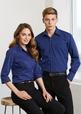 'Biz Collection' Mens Manhattan Stripe Long Sleeve Shirt