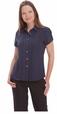 'City Collection' Ladies Cap Sleeve City Stretch Spot Shirt