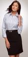 ** CLEARANCE ITEM **  'City Collection' Ladies ⅞ Sleeve ETI Executive Stripe Shirt