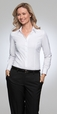 'City Collection' Ladies Long Sleeve Stretch Classic Shirt