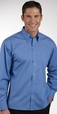 'City Collection' Mens Long Sleeve Micro Check Shirt
