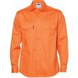 'DNC' Long Sleeve Cotton Drill Work Shirt