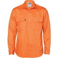 'DNC' Long Gusset Sleeve Closed Front Cotton Drill Work Shirt