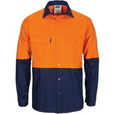 'DNC' HiVis Light Weight Cool-Breeze T2 Vertical Vented Cotton Shirt with Gusset Sleeves