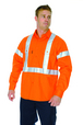 'DNC' HiVis D/N Long Sleeve Cotton Shirt with Cross Back R-Generic Tape