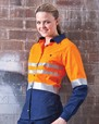 'Visitec Workwear' Ladies Fusion Day/Night Lightweight Long Sleeve Shirt
