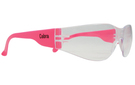 'SGA'  Cobra Safety Glasses with Clear Lens and Pink Arms