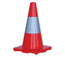'Prochoice' Orange Hi-Vis Traffic Cone 450mm Height with Reflective Tape