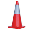 'Prochoice' Orange Hi-Vis Traffic Cone 700mm Height with Reflective Tape