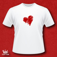 'Heart Sketched' T-shirt