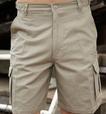 'Bocini' Unisex Cotton Drill Cargo Shorts