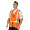 DNC' HiVis Day/Night Cross Back Cotton Safety Vest
