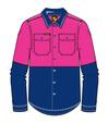 'Workcraft' Girls Lightweight HiVis 2 Tone Long Sleeve Shirt