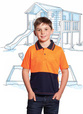 'Workcraft' Kids HiVis Short Sleeve Polo with Pocket