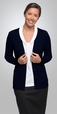 'City Collection' Ladies City 2 Pocket Overknit  Long Sleeve Cardigan
