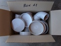 Box #61 - End of contract clearance. Mixed condition products. DWV 100mm caps and other mixed DWV fittings,