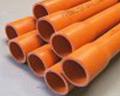 5b. 50 mm Orange HD Electrical conduit, 4 Metre BULK Quantity of 100