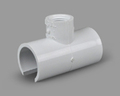PVC TEE SNAP-ON FAUCET