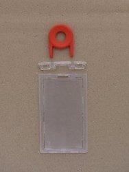 CHLV02-Key  10 Pack Lockable Rigid Card holder - Vertical