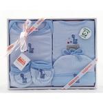 4 Piece Organic Cotton Clothing Set ~ Blue Giraffe