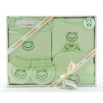 4 Piece Organic Cotton Clothing Set ~ Green Frog