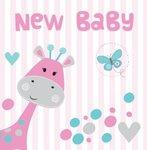 New Baby Pink Giraffe Hearts