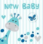 New Baby Blue Giraffe Hearts