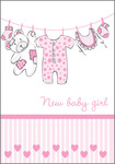New Baby Girl Clothesline with Stripes