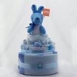 Nappy Cake Blue Kangaroo
