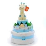Nappy Cake Blue Giraffe