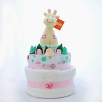 Nappy Cake Pink Giraffe