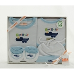 Organic Cotton Clothing Set ~ Blue Croc