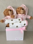 Twin Girl Pink Sleeping Bears