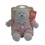 Baby Rattle Pink Bear