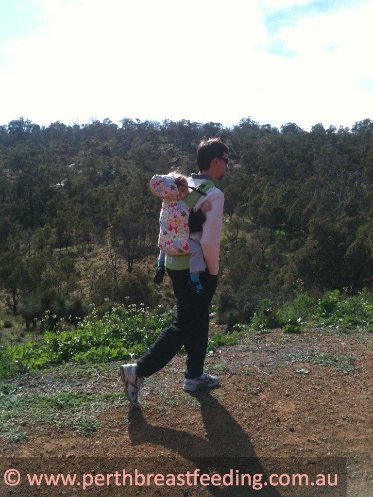Matt walking with 2 year old