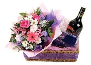Baileys, flowers and chocolates. M170