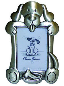 DP11422B Pewter look dog picture frame