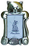 DP11422A Pewter look cat picture frame