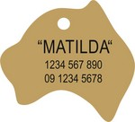 Brass Australia Pet Tag