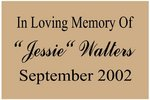 Memorial Plaque - Style Two/Small