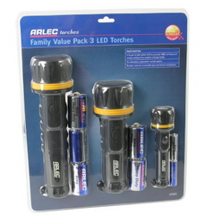TORCHES LED X 3 VALUE PACK